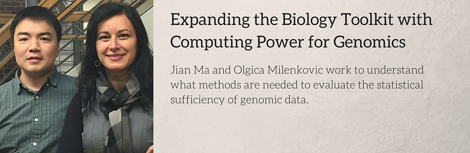 Jian Ma and Olgica Milenkovic work to understand what methods are needed to evaluate the statistical sufficiency of genomic data.
